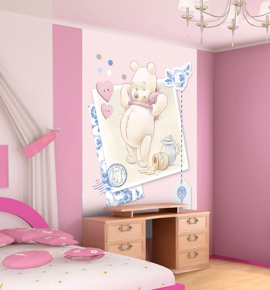 papier peint winnie l 39 ourson vertical with love 7 dimensions disponibles lesaccessoires. Black Bedroom Furniture Sets. Home Design Ideas