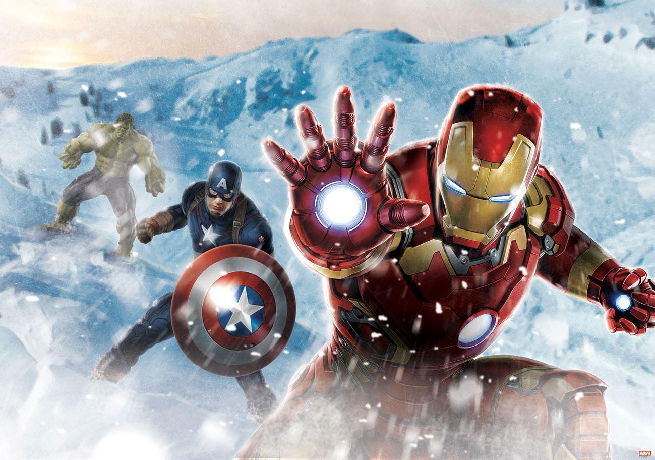 Papier Peint Photo Marvel Avengers Ironman, Captain