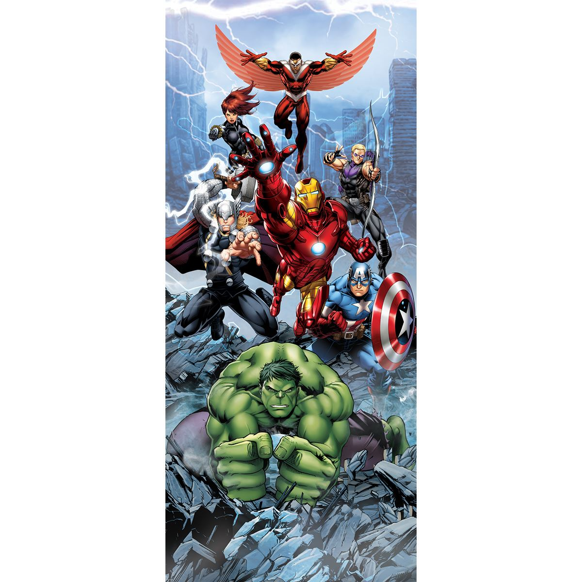 papier peint photo marvel avengers comics 12 dimensions disponibles lesaccessoires. Black Bedroom Furniture Sets. Home Design Ideas