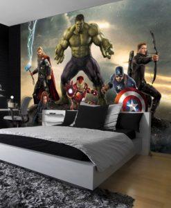 Avengers Parure De Lit Housse De Couette Enfant Decoration