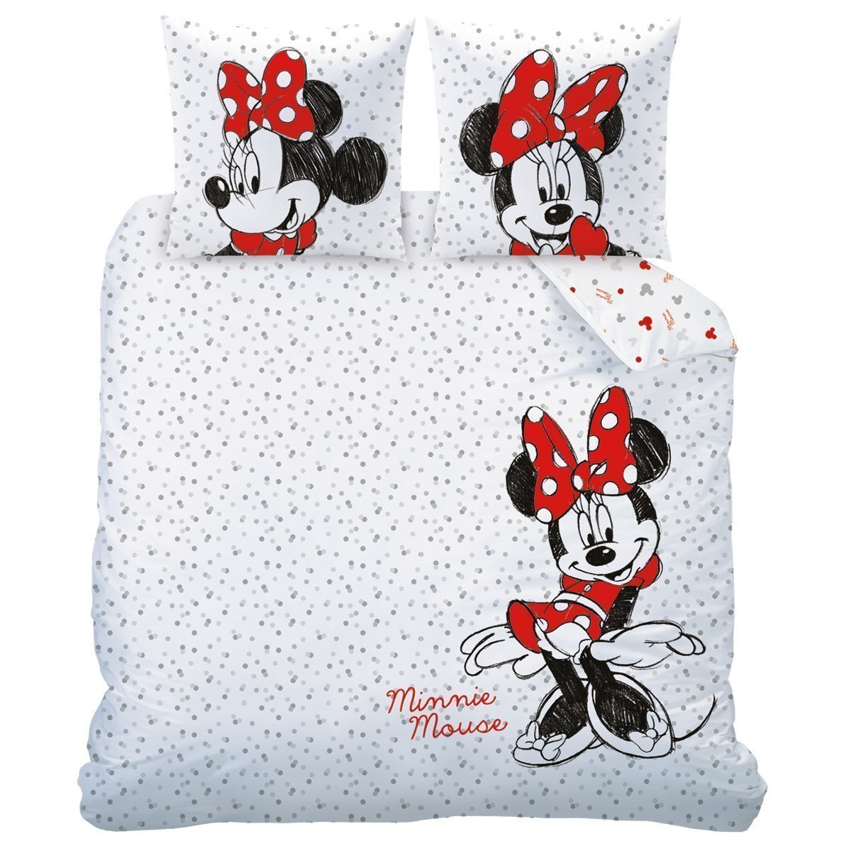 parure de lit double minnie drawing pour lit 2 personnes. Black Bedroom Furniture Sets. Home Design Ideas