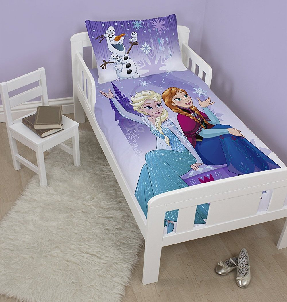 parure de lit reine des neiges pour lit enfant 120x150. Black Bedroom Furniture Sets. Home Design Ideas