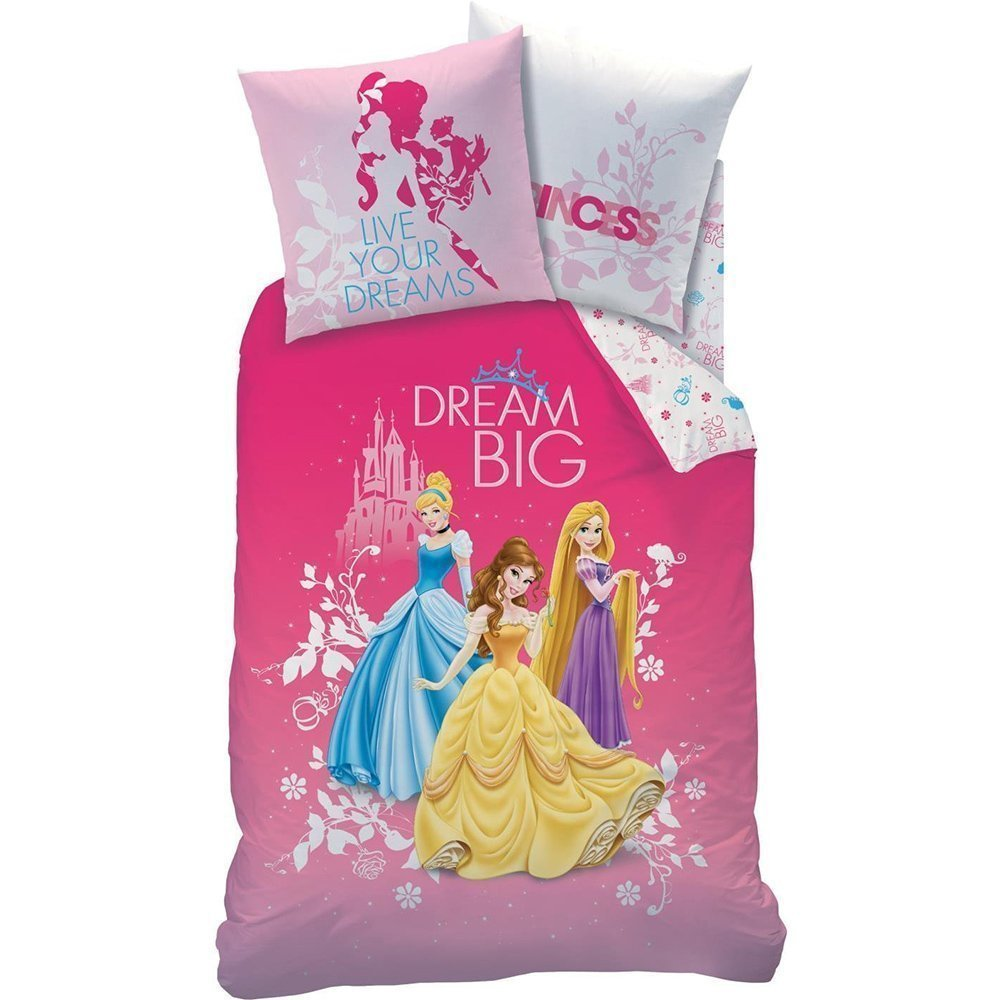 parure de lit princesses disney avec raiponce belle et cendrillon. Black Bedroom Furniture Sets. Home Design Ideas