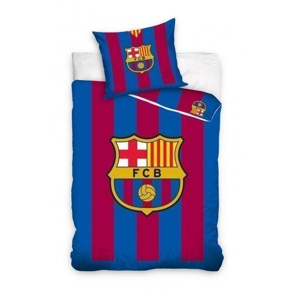housse de couette fc barcelone stripes 140x200 100 coton. Black Bedroom Furniture Sets. Home Design Ideas