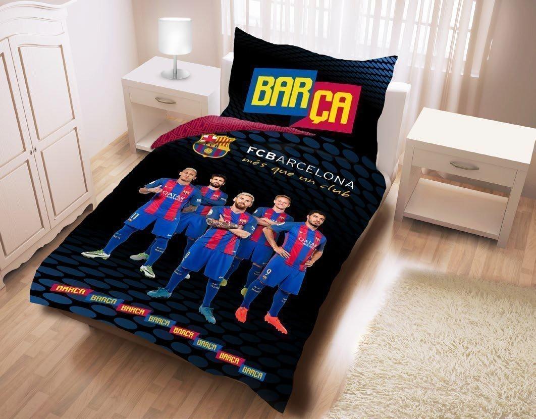 Parure de lit fc barcelone players messi 100 coton 140x200 cm - Parure de lit fc barcelone ...