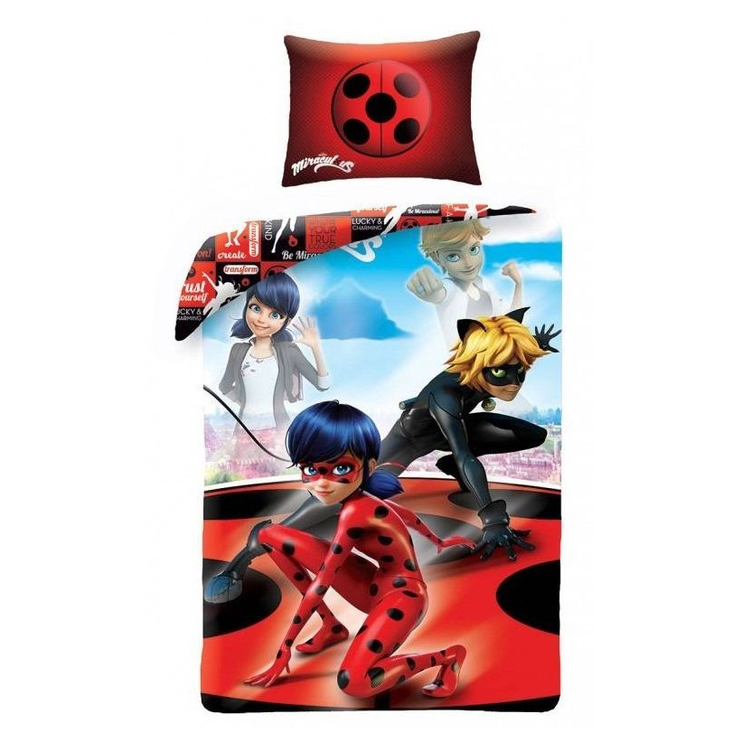 parure de lit miraculous ladybug 100% coton pour fille 162778ce1d65