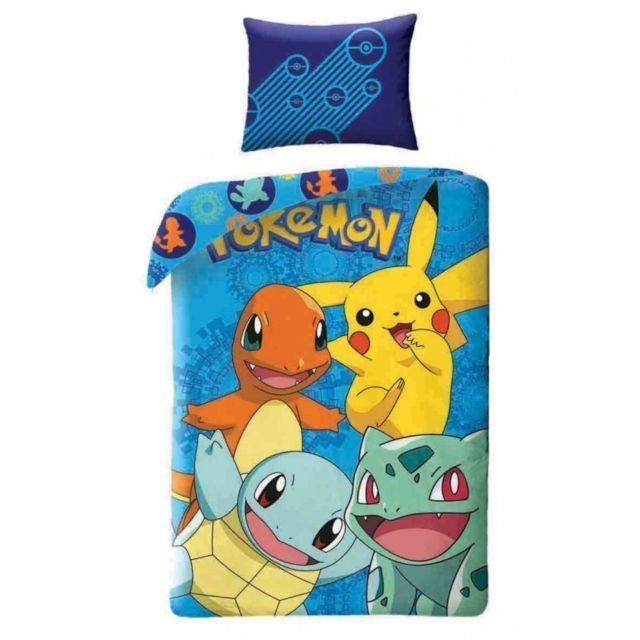 housse de couette pokemon catch pour lit simple enfant. Black Bedroom Furniture Sets. Home Design Ideas