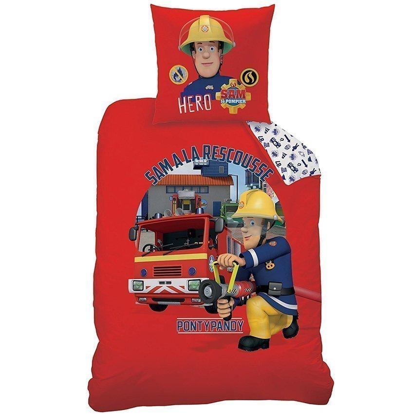 Parure de lit enfant sam le pompier a la rescousse pour - Housse de couette sam le pompier ...