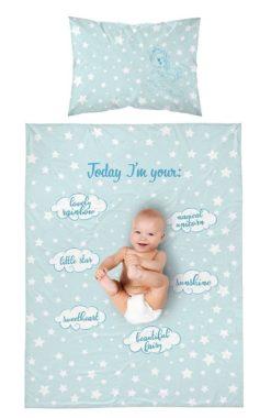 Linge de lit Licorne Bleue pour Bébé