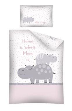 Parure de lit Hippopotame Rose pour Bébé
