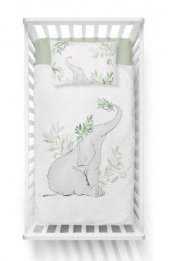 Parure de lit Éléphant Bambou Vert