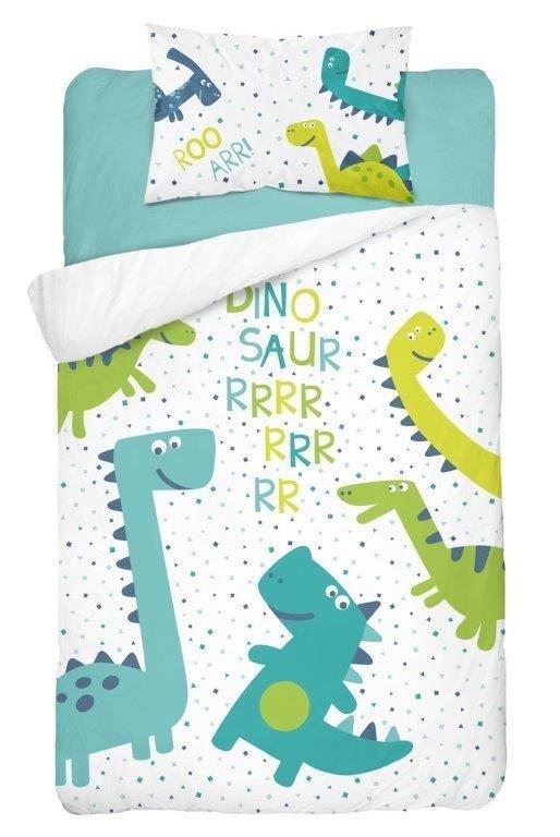 Parure de lit Bébé Dinosaures - Vert