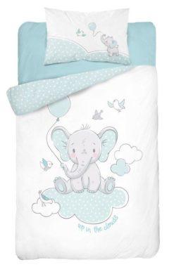 Parure de lit Éléphant Bleu pour Bébé