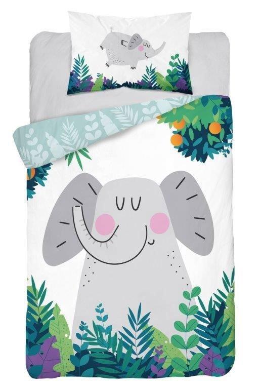 Housse de Couette pour lit Bébé motif Éléphant