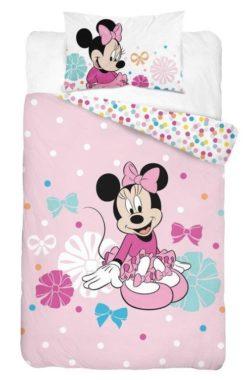 Parure de lit Disney Minnie Rose - Housse de Couette + Taie