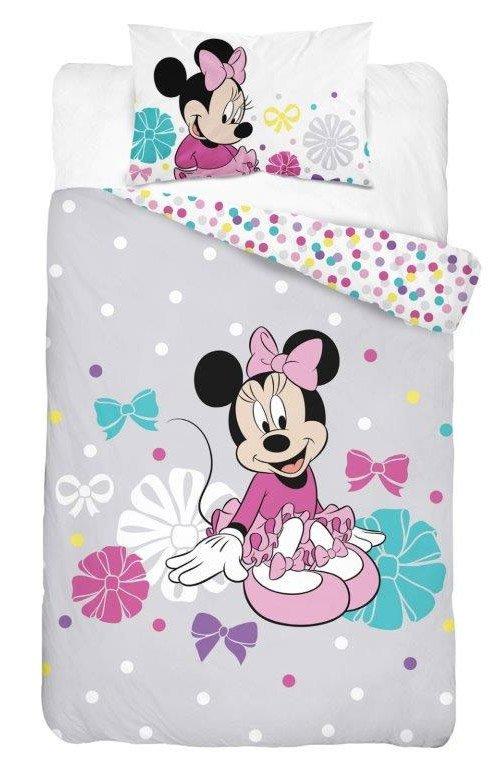 Parure de lit Disney Minnie Grise - Housse de Couette + Taie
