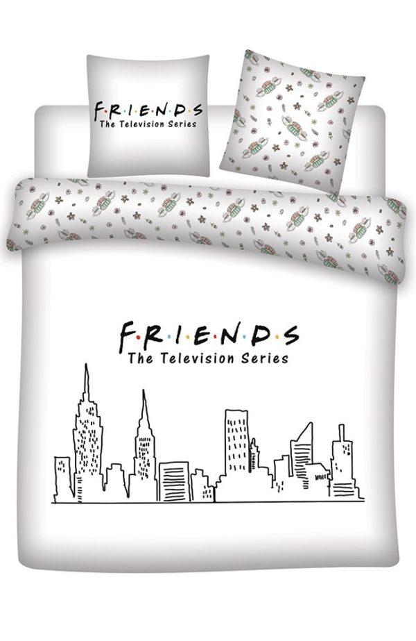 Parure de lit Friends 2 personnes 200x200cm