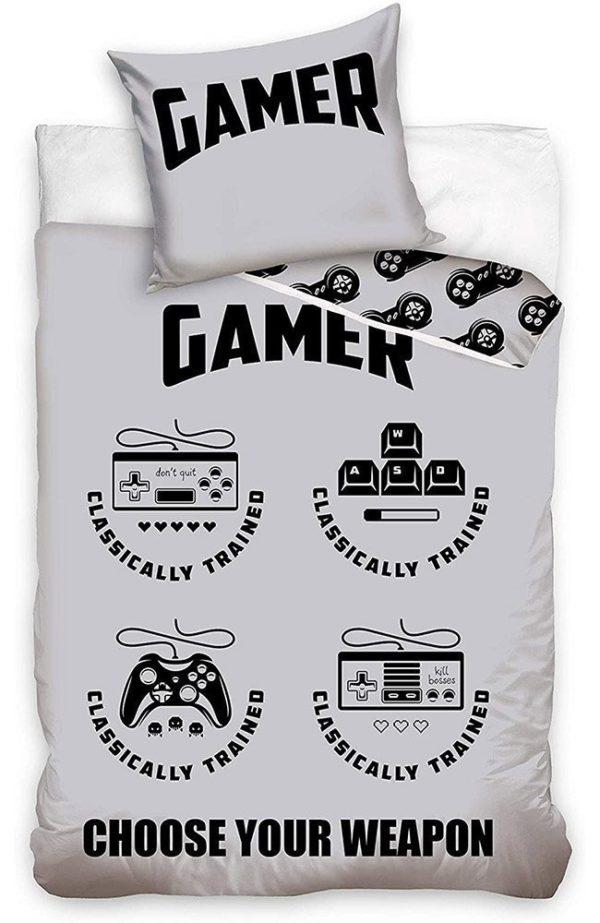 Parure de lit Gaming Grise