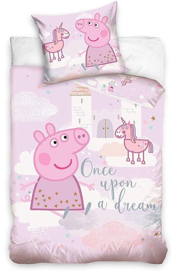 Housse de Couette Peppa Pig Licorne pour lit bébé