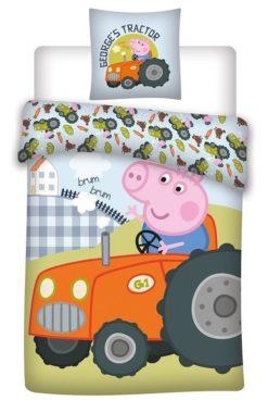 Parure de lit George Peppa Pig Tracteur