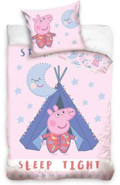 Parure de lit Peppa Pig Sleep Tight