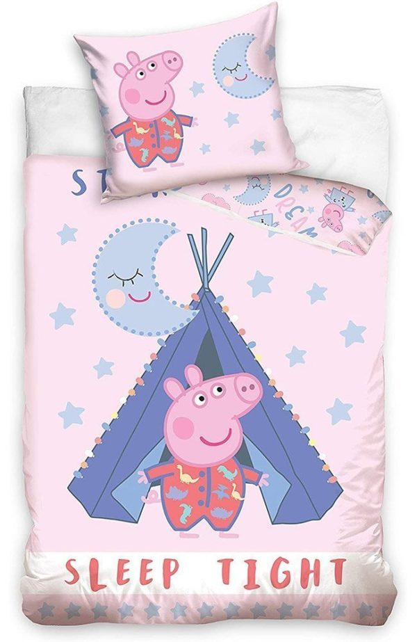 Parure de lit Peppa Pig Sleep Tight