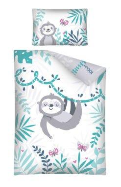 Housse de Couette animaux Paresseux pour lit bébé