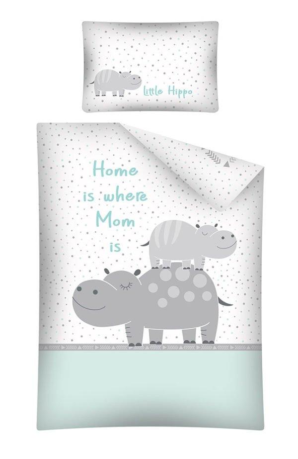 Parure de lit Hippopotame Vert pour Bébé