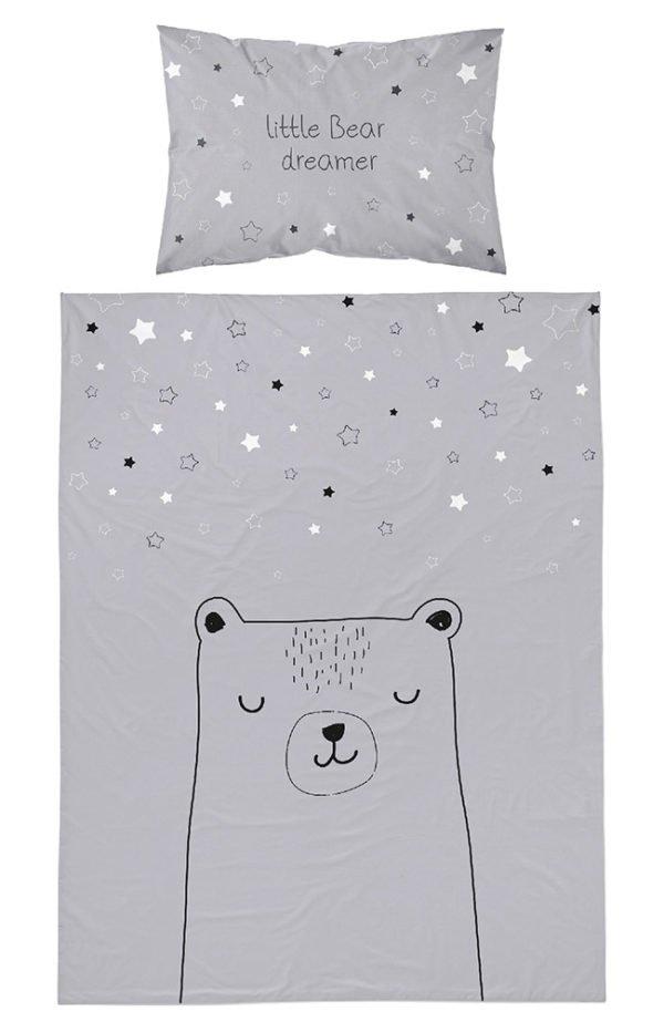 Parure de lit Petit Ours pour bébé 100x135 cm