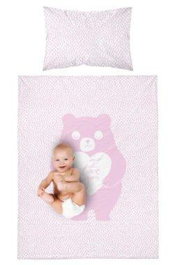 Parure de lit Ours Rose pour Bébé