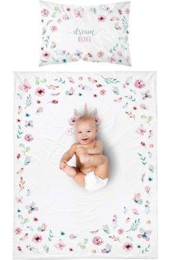Housse de Couette Licorne Réversible pour lit Bébé