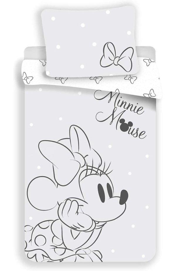 Housse de Couette Disney Minnie Grise